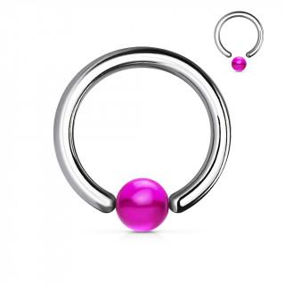 Piercing anneau CBR à boule pourpre