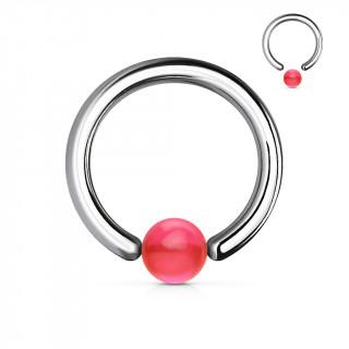 Piercing anneau CBR à boule rose