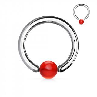 Piercing anneau CBR à boule rouge