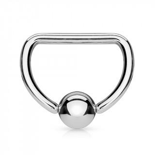 Piercing anneau CBR acier en forme de D (téton, hélix...)