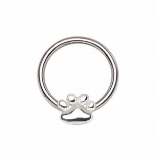 Piercing anneau CBR à patte de chien (septum, cartilage oreille...)