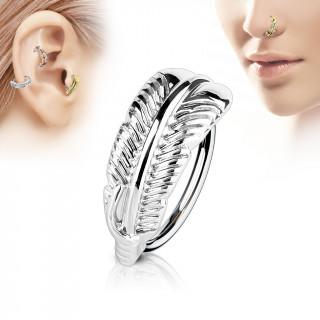 Piercing anneau à feuille (nez, cartilage)