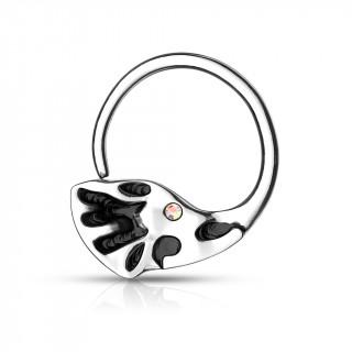 Piercing anneau pliable à tête d'éléphant (septum, oreille...)