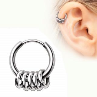 Piercing anneau segment clips à multiples anneaux