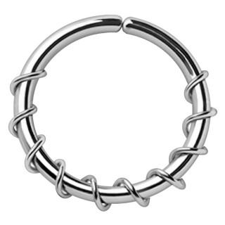 Piercing anneau tordable à spirale enlacée