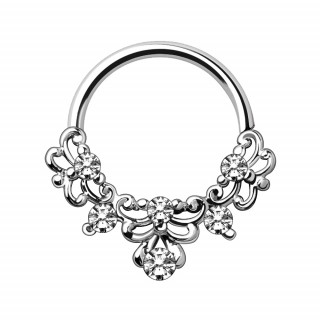 Piercing anneau tordable style ornemental ancien