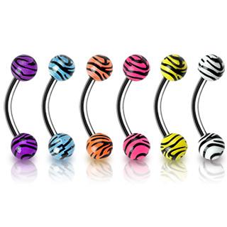 Piercing arcade boules tigrées UV