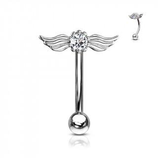 Piercing arcade cristal à ailes d'ange