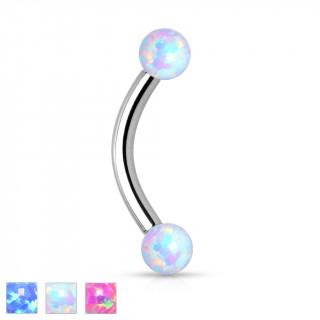 Piercing arcade en acier à boules en Opale synthétique