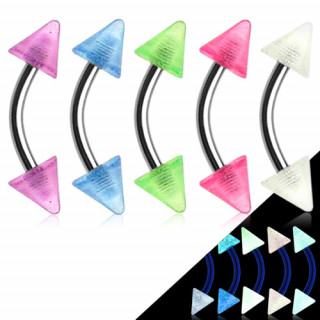 Piercing arcade fluo à pointes