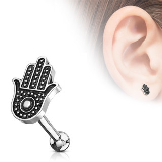 Piercing cartilage à main Hamsa