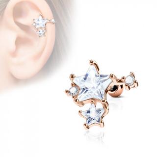 Piercing cartilage amas d'étoiles - Cuivré
