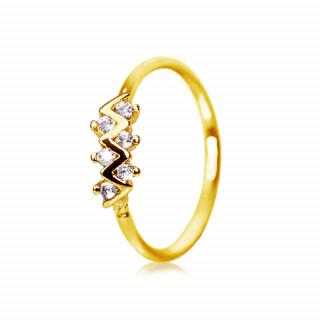 Piercing anneau doré à zigzag strass
