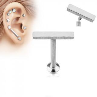 Piercing cartilage barre moyenne argentée