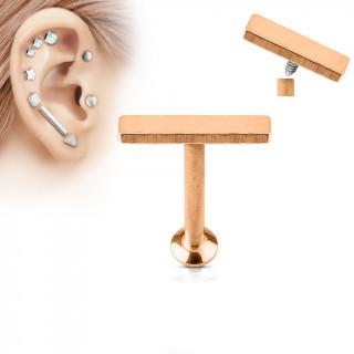 Piercing cartilage barre moyenne cuivrée