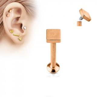 Piercing cartilage carré cuivré