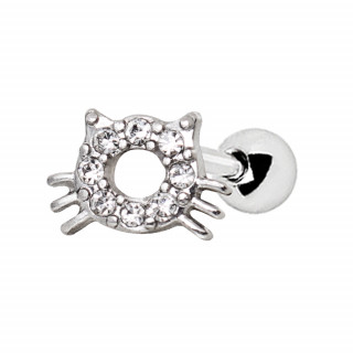 Piercing cartilage chat strass