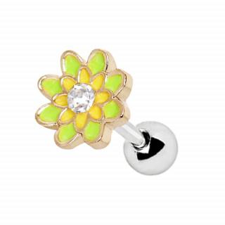 Piercing cartilage fleur peps