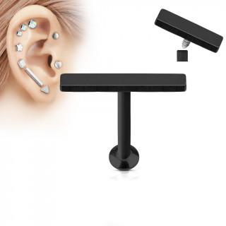Piercing cartilage grande barre noire