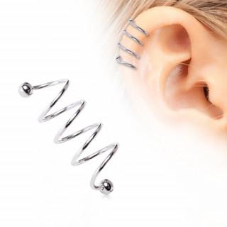 Piercing cartilage hélix bobine twist en acier