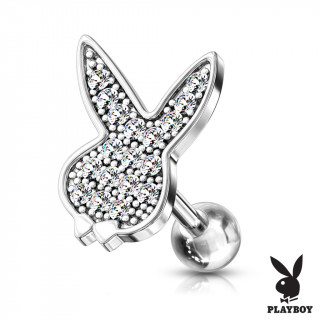 Piercing cartilage lapin Playboy parsemé de strass