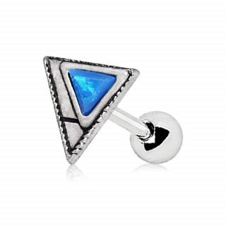 Piercing cartilage à multiples triangles sertie opale