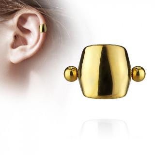 Piercing cartilage style bouclier - Doré