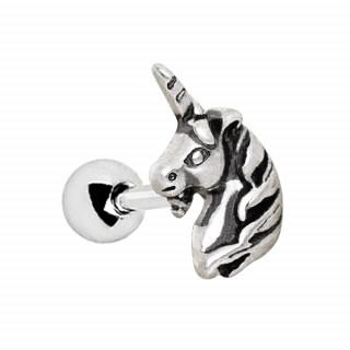 Piercing cartilage à tête de licorne