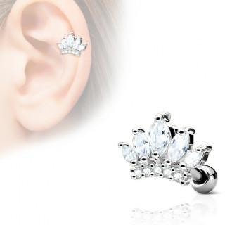 Piercing cartilage tiare princière
