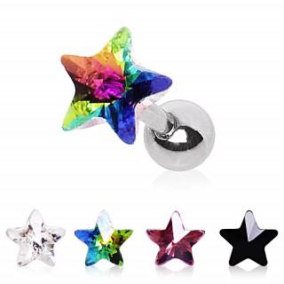 Piercing cartilage tragus hélix à étoile prisme