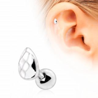 Piercing cartilage tragus hélix à larme facettée