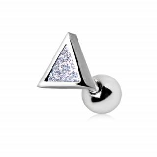 Piercing cartilage tragus hélix à triangle pailleté de poussière de zirconium