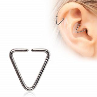 Piercing cartilage triangle acier
