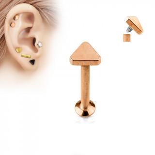 Piercing cartilage labret triangle cuivré