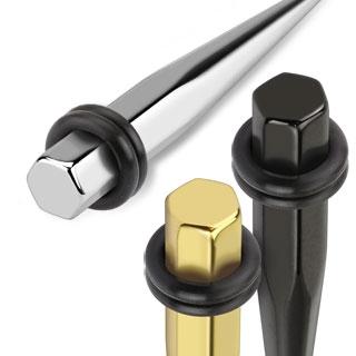 Piercing écarteur héxagonal en acier type tapers