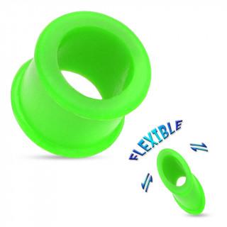 Piercing écarteur tunnel silicone ultra flexible vert