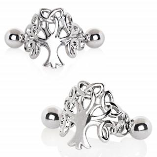 Piercing hélix à arbre de vie