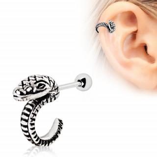 Piercing hélix serpent incurvé