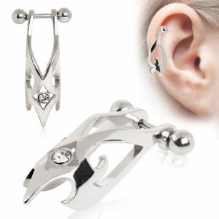 Piercing helix style bec de faucon