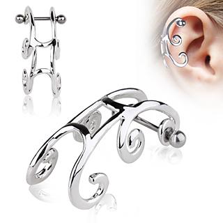 Piercing helix style traineau à spirales