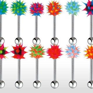 Piercing barbell piques de silicone