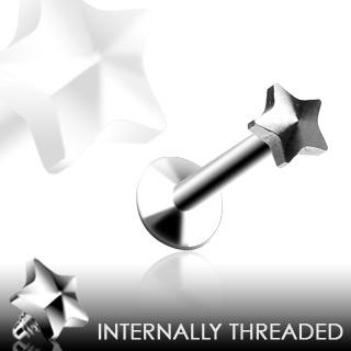 Piercing lèvre Threaded Star