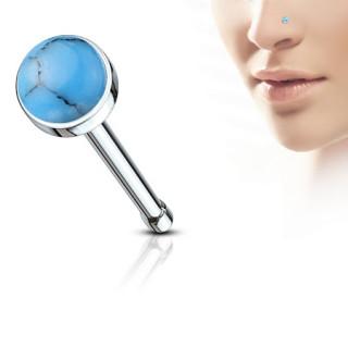 Piercing nez à pierre Turquoise
