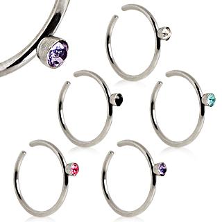 achat piercing nez anneau en acier strass enchass. Black Bedroom Furniture Sets. Home Design Ideas