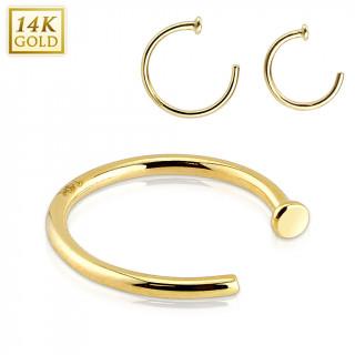 Piercing nez anneau en or jaune 14 carats