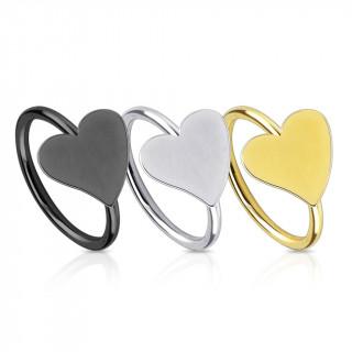 Piercing nez en anneau avec coeur