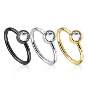 achat piercing nez en anneau avec cylindre serti. Black Bedroom Furniture Sets. Home Design Ideas
