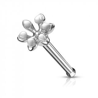 Piercing nez fleur emaillée - Blanc