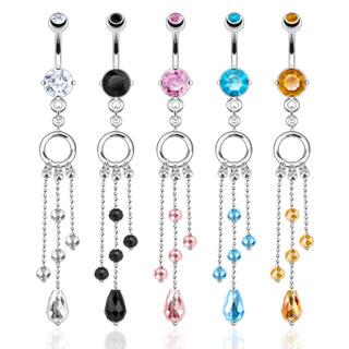 achat piercing nombril anneau et chaines asym triques perl es. Black Bedroom Furniture Sets. Home Design Ideas