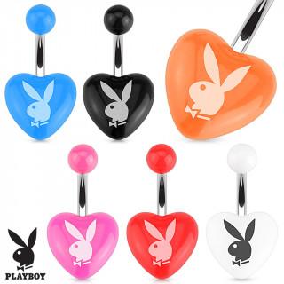 Piercing nombril avec lapin Playboy sur coeur